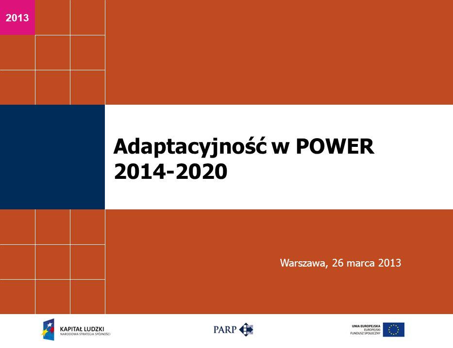 Adaptacyjność w POWER 2014-2020