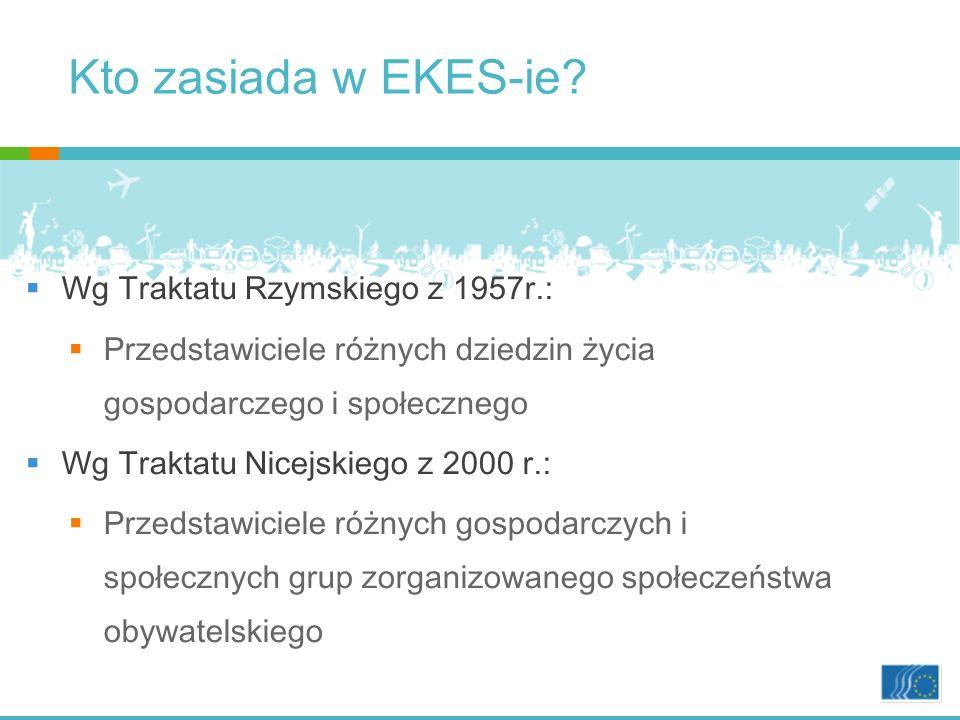 Kto zasiada w EKES-ie Wg Traktatu Rzymskiego z 1957r.: