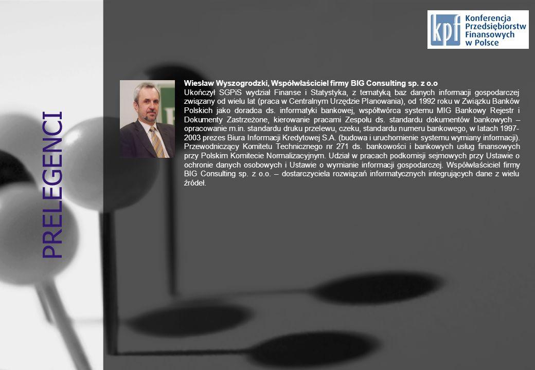 PRELEGENCI Wiesław Wyszogrodzki, Współwłaściciel firmy BIG Consulting sp. z o.o.