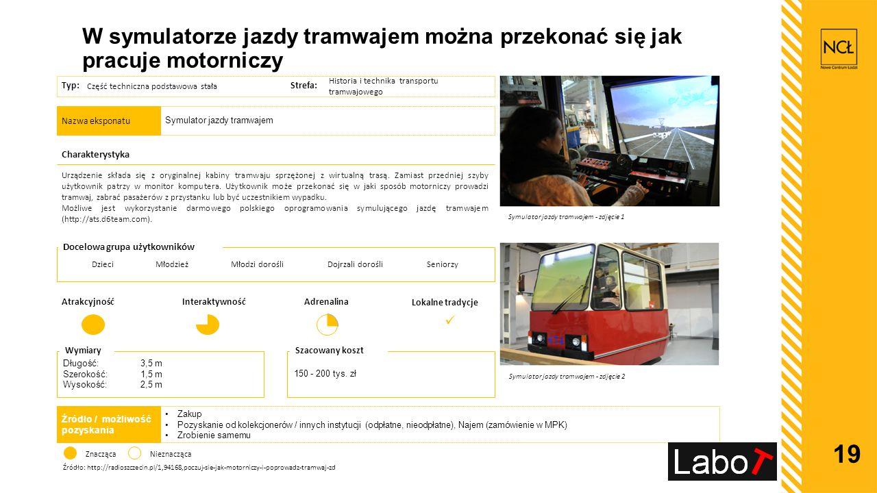 W symulatorze jazdy tramwajem można przekonać się jak pracuje motorniczy