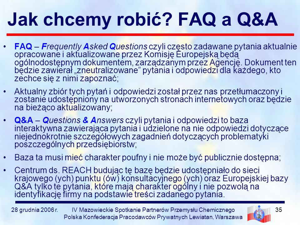 Jak chcemy robić FAQ a Q&A