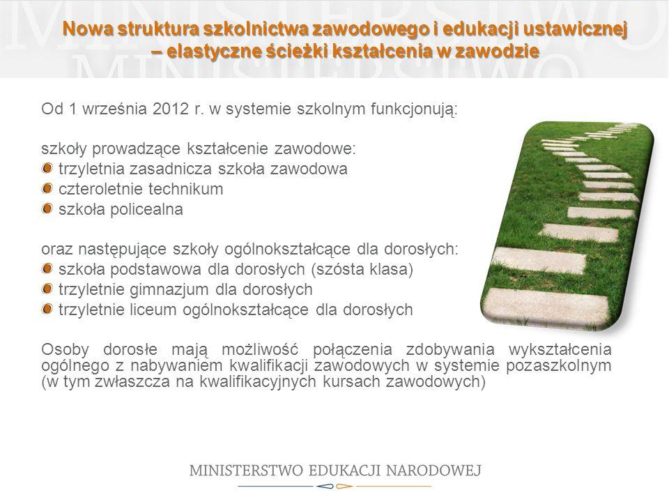 Nowa struktura szkolnictwa zawodowego i edukacji ustawicznej – elastyczne ścieżki kształcenia w zawodzie