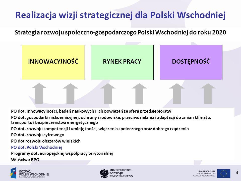 Realizacja wizji strategicznej dla Polski Wschodniej