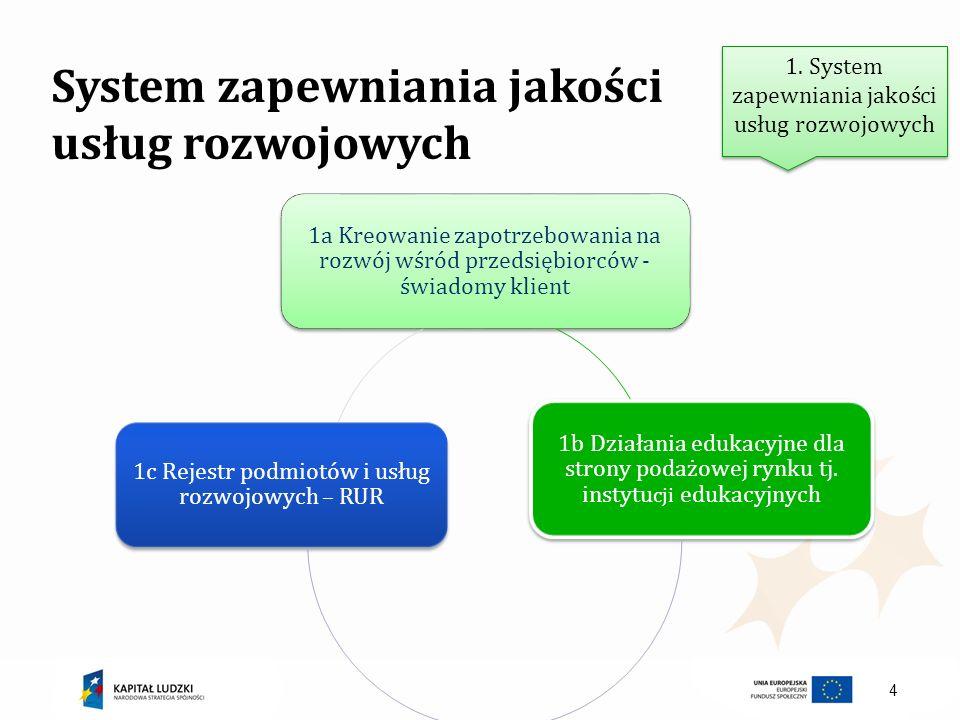 System zapewniania jakości usług rozwojowych