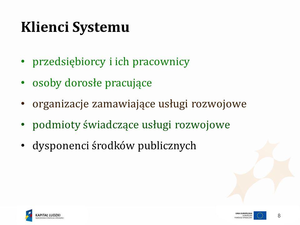 Klienci Systemu przedsiębiorcy i ich pracownicy