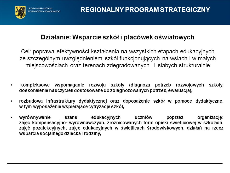 REGIONALNY PROGRAM STRATEGICZNY