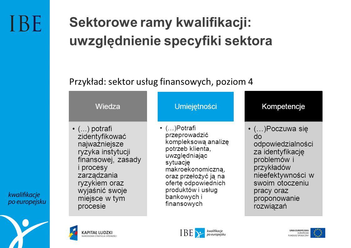 Sektorowe ramy kwalifikacji: uwzględnienie specyfiki sektora