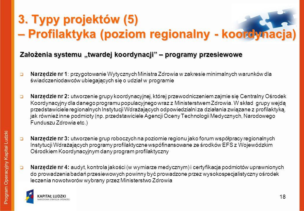 """Założenia systemu """"twardej koordynacji – programy przesiewowe"""