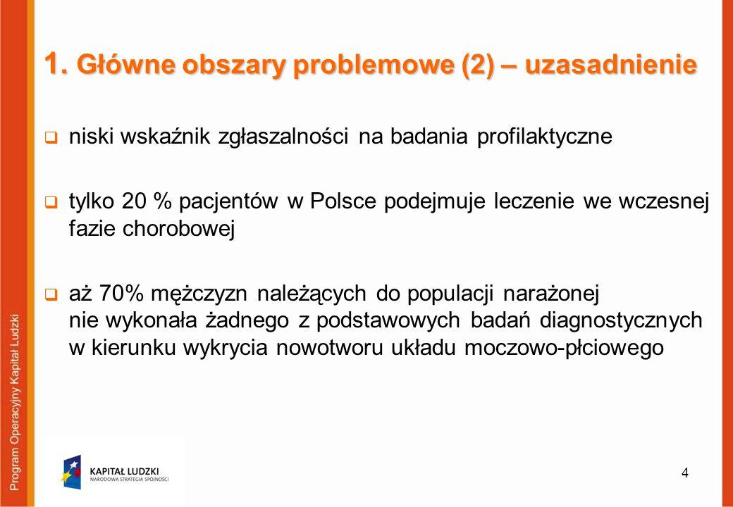 1. Główne obszary problemowe (2) – uzasadnienie