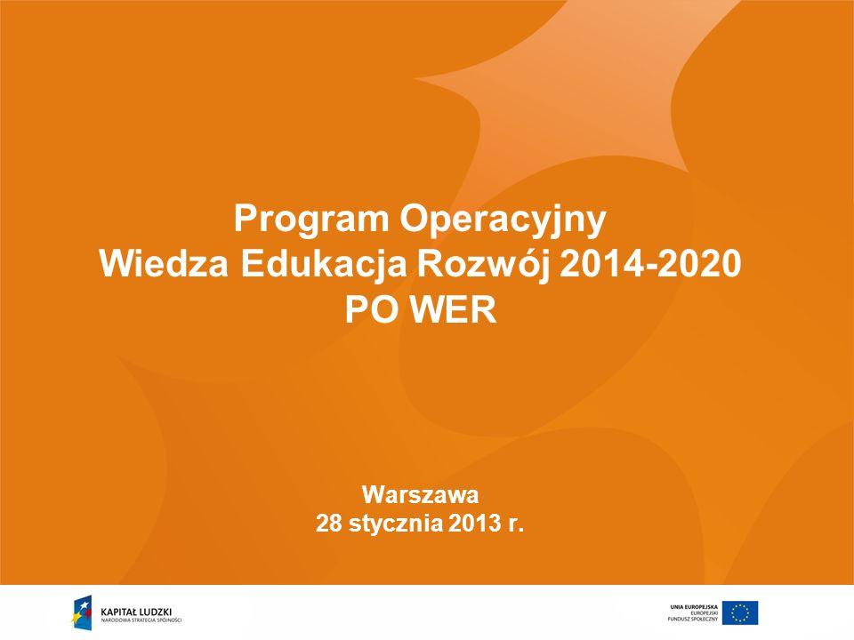 Wiedza Edukacja Rozwój 2014-2020