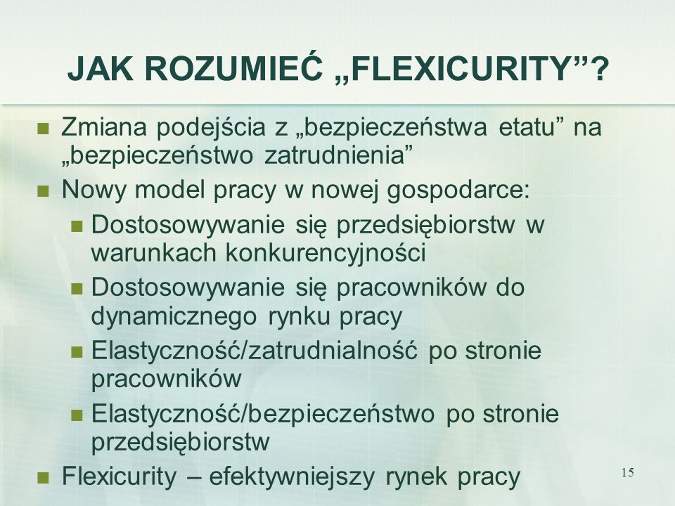"""JAK ROZUMIEĆ """"FLEXICURITY"""
