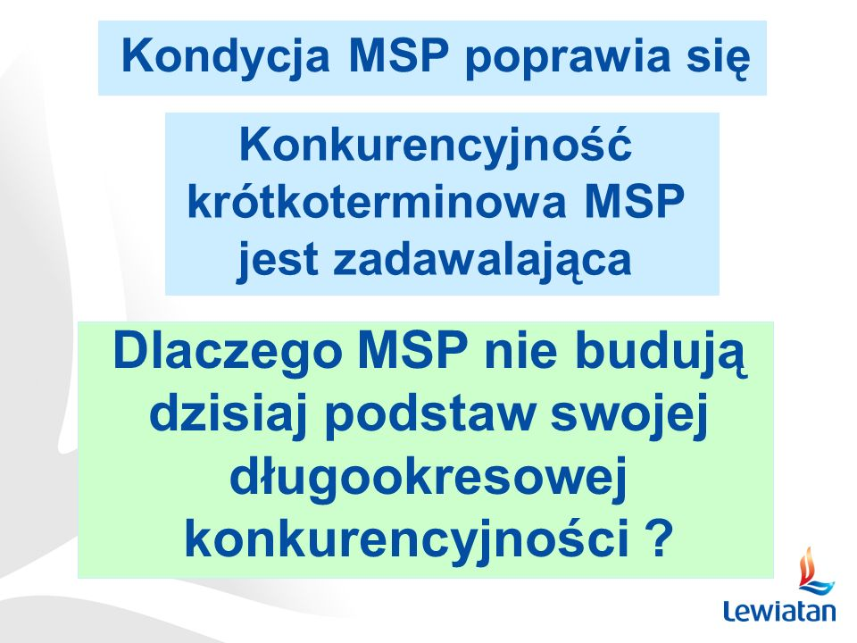 Kondycja MSP poprawia się