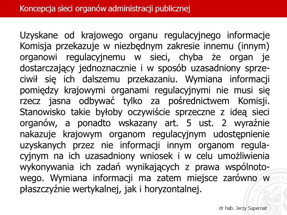 Koncepcja sieci organów administracji publicznej