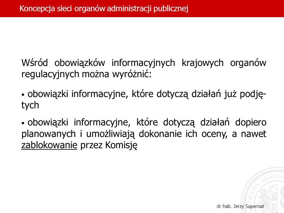obowiązki informacyjne, które dotyczą działań już podję- tych