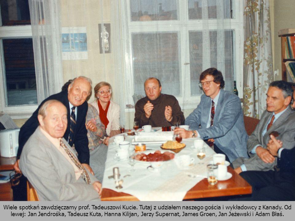 Wiele spotkań zawdzięczamy prof. Tadeuszowi Kucie