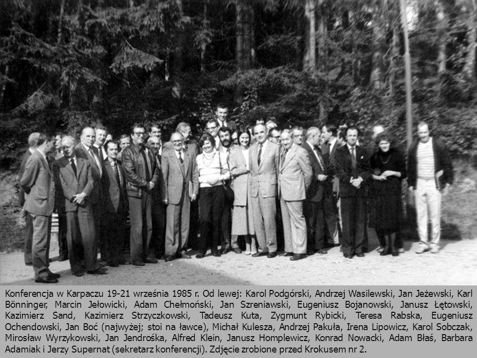 Konferencja w Karpaczu 19-21 września 1985 r