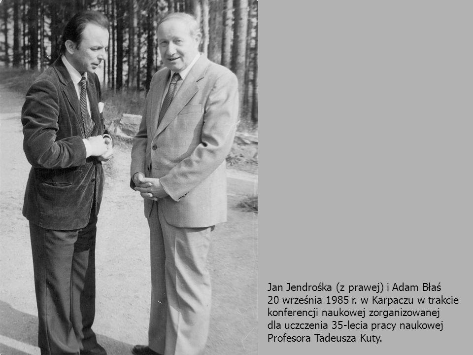 Jan Jendrośka (z prawej) i Adam Błaś 20 września 1985 r