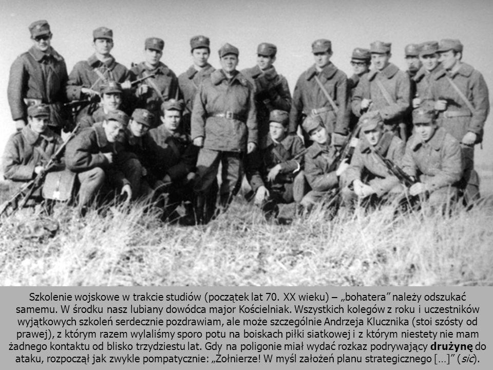 Szkolenie wojskowe w trakcie studiów (początek lat 70