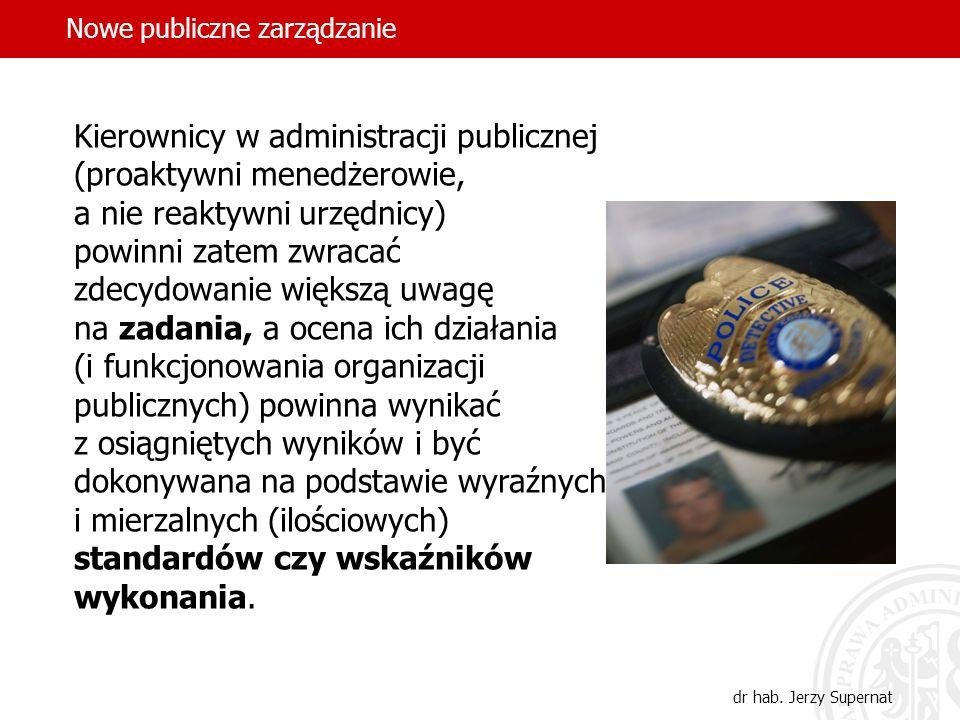 Kierownicy w administracji publicznej (proaktywni menedżerowie,