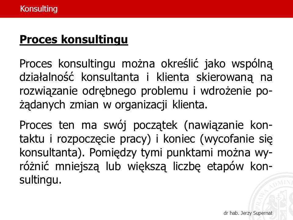 Konsulting Proces konsultingu.