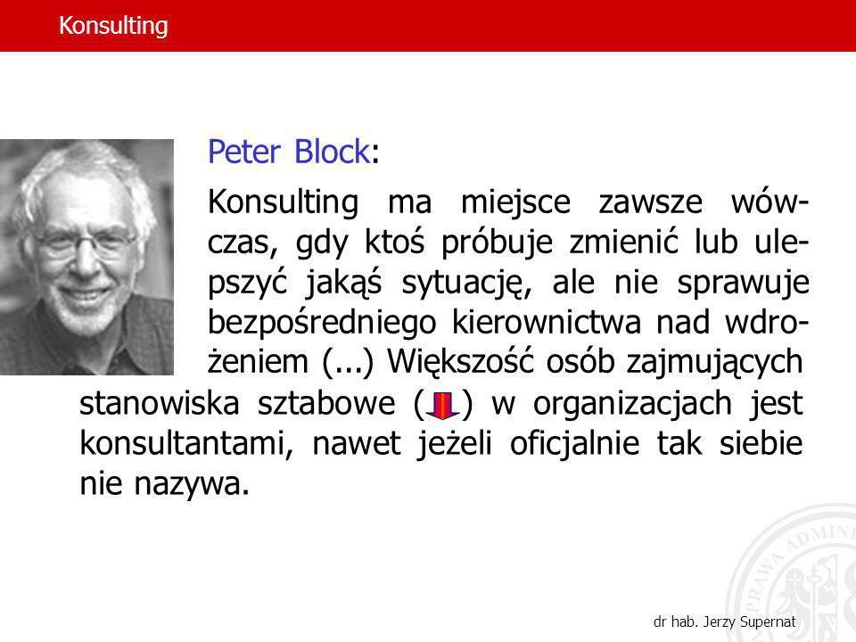 Konsulting Peter Block: