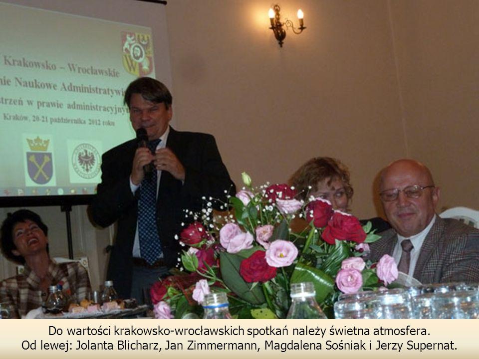 Do wartości krakowsko-wrocławskich spotkań należy świetna atmosfera.