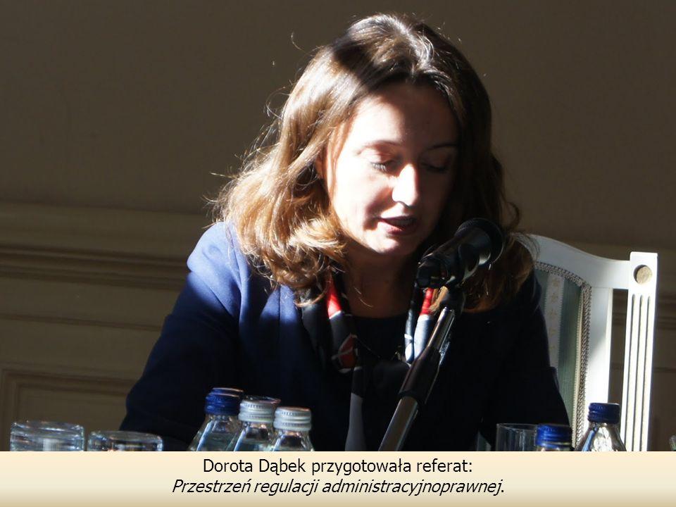 Dorota Dąbek przygotowała referat: