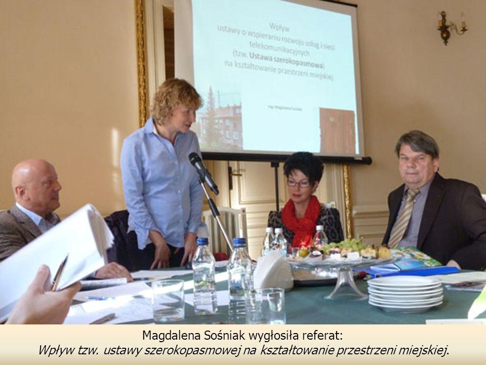 Magdalena Sośniak wygłosiła referat: