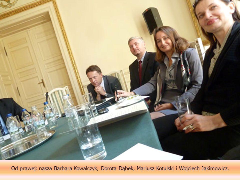 Od prawej: nasza Barbara Kowalczyk, Dorota Dąbek, Mariusz Kotulski i Wojciech Jakimowicz.