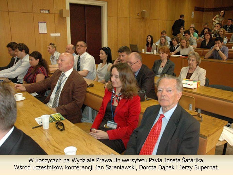 W Koszycach na Wydziale Prawa Uniwersytetu Pavla Josefa Šafárika.