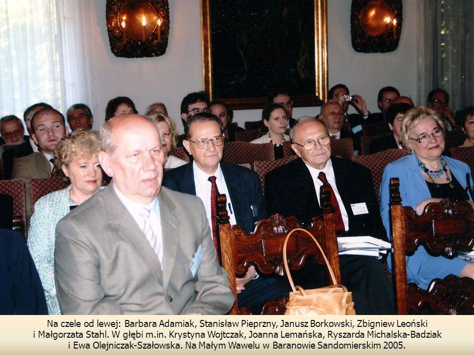 Na czele od lewej: Barbara Adamiak, Stanisław Pieprzny, Janusz Borkowski, Zbigniew Leoński
