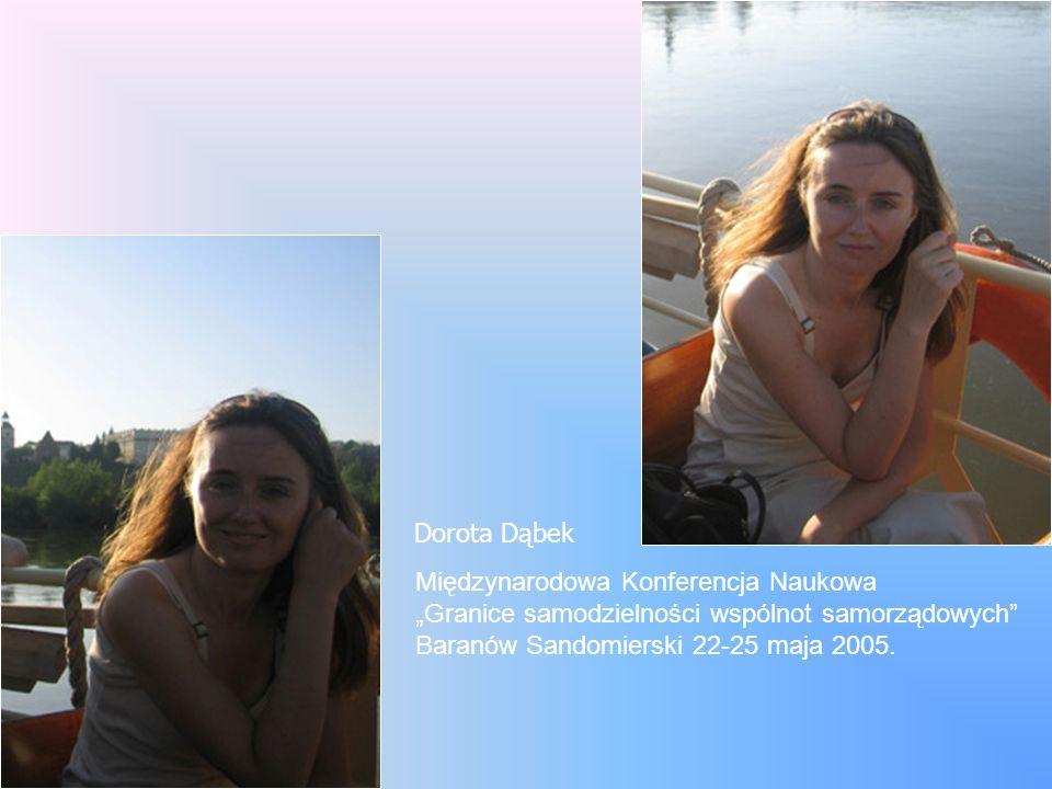 Dorota Dąbek Międzynarodowa Konferencja Naukowa.