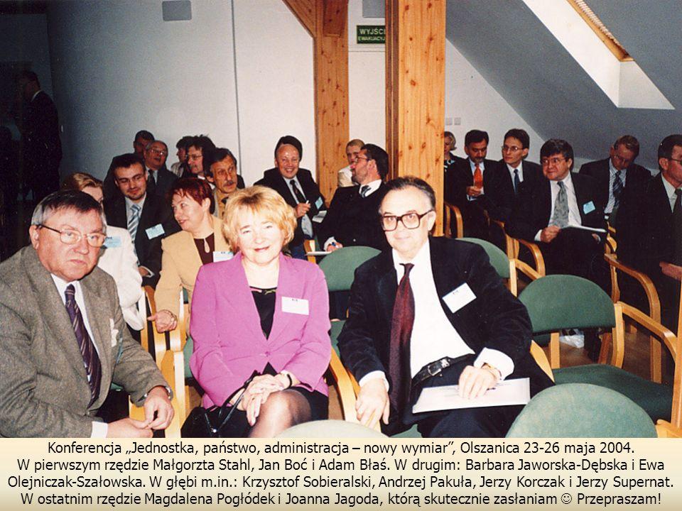 """Konferencja """"Jednostka, państwo, administracja – nowy wymiar , Olszanica 23-26 maja 2004."""