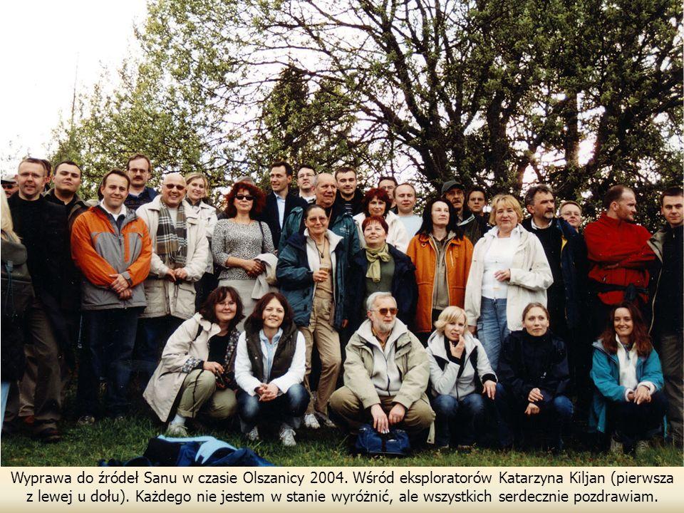 Wyprawa do źródeł Sanu w czasie Olszanicy 2004