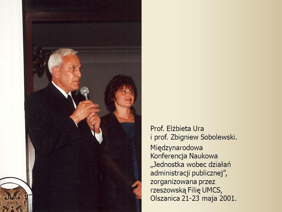 Prof. Elżbieta Ura i prof. Zbigniew Sobolewski. Międzynarodowa. Konferencja Naukowa.