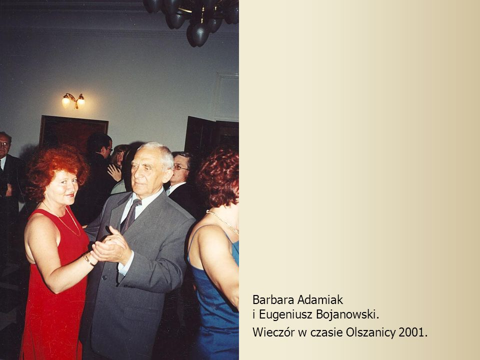 Barbara Adamiak i Eugeniusz Bojanowski. Wieczór w czasie Olszanicy 2001.