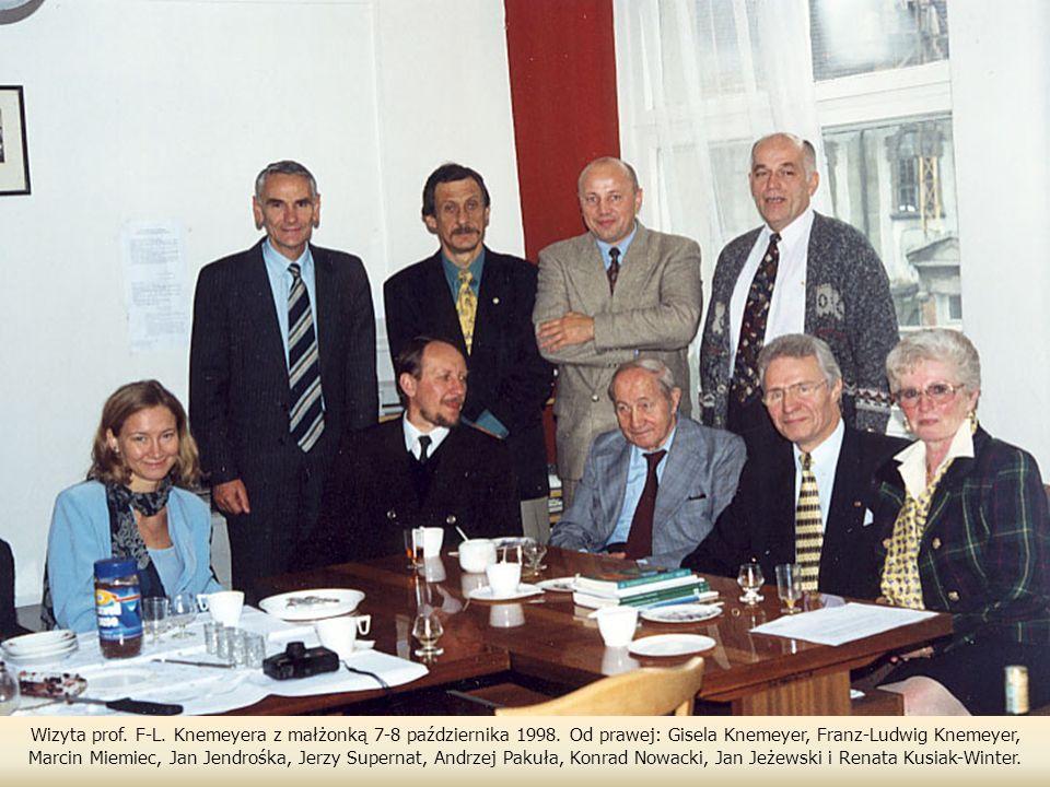 Wizyta prof. F-L. Knemeyera z małżonką 7-8 października 1998