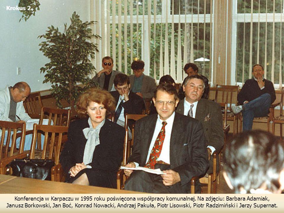 Krokus 2. Konferencja w Karpaczu w 1995 roku poświęcona współpracy komunalnej. Na zdjęciu: Barbara Adamiak,