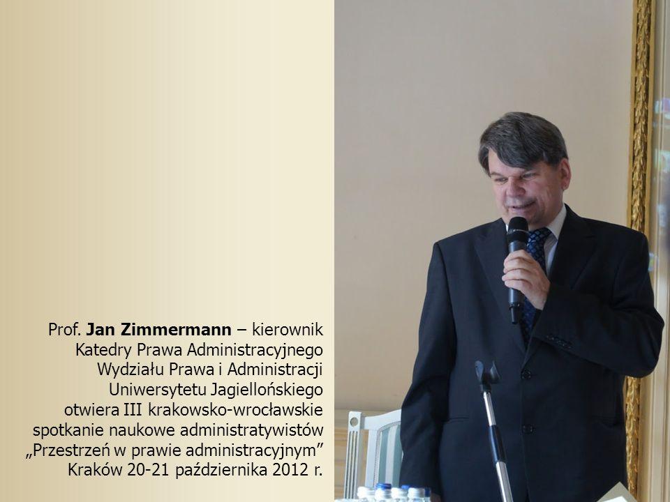 Prof. Jan Zimmermann – kierownik