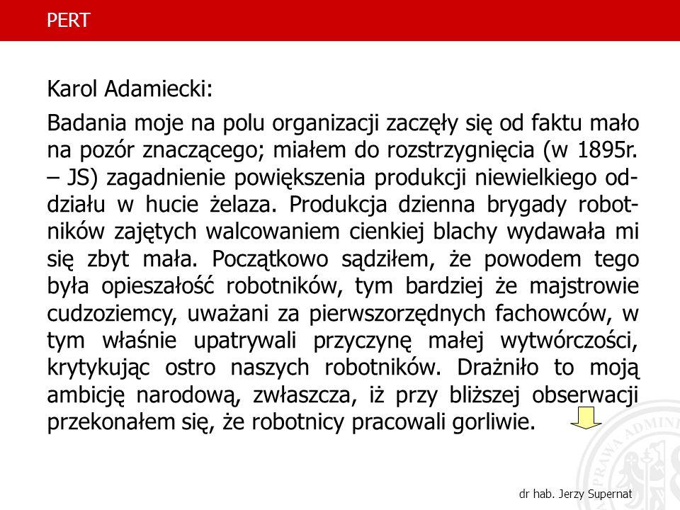 PERT Karol Adamiecki: