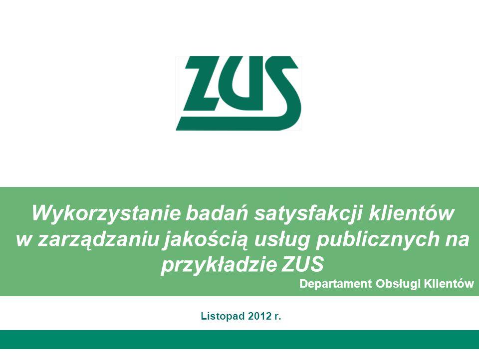 Wykorzystanie badań satysfakcji klientów w zarządzaniu jakością usług publicznych na przykładzie ZUS
