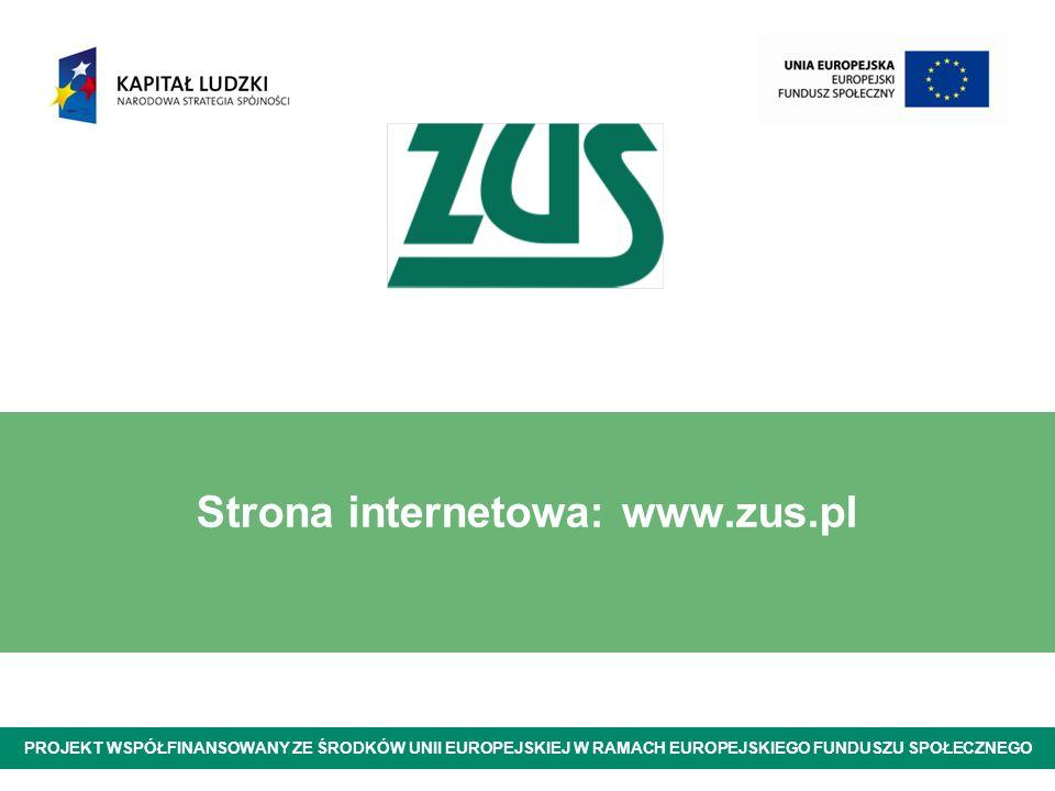 Strona internetowa: www.zus.pl