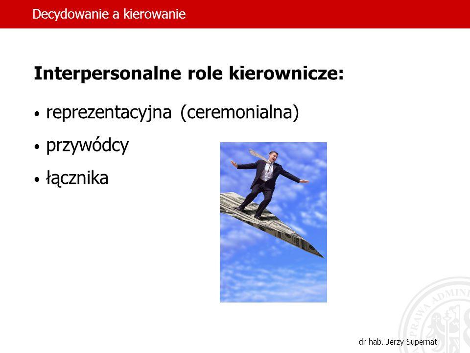 Interpersonalne role kierownicze: reprezentacyjna (ceremonialna)