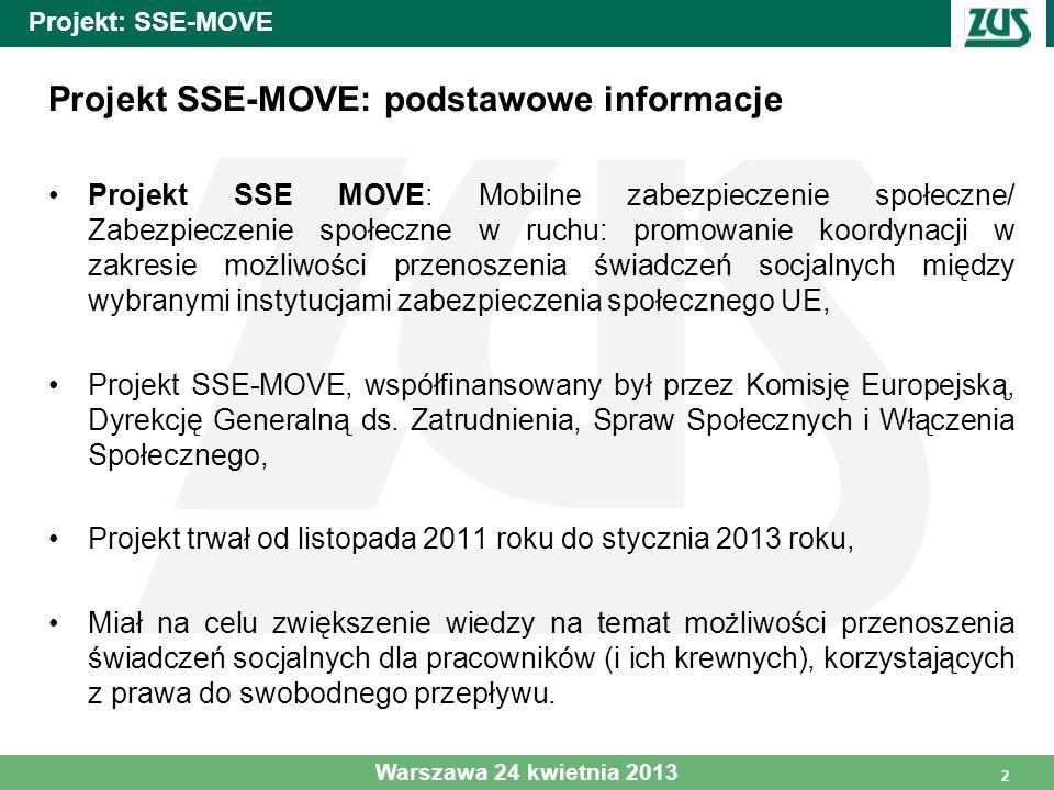 Projekt SSE-MOVE: podstawowe informacje