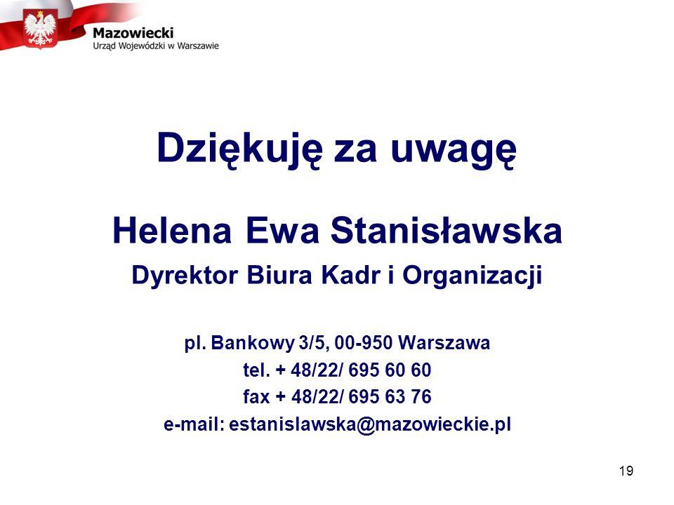Dziękuję za uwagę Helena Ewa Stanisławska