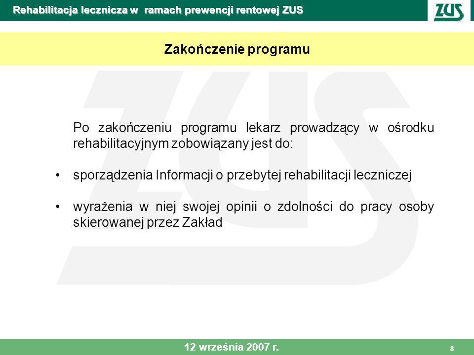 Rehabilitacja lecznicza w ramach prewencji rentowej ZUS