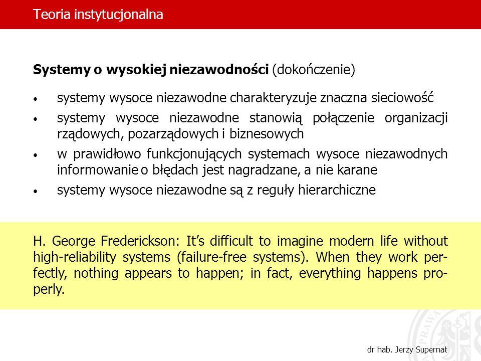 Teoria instytucjonalna