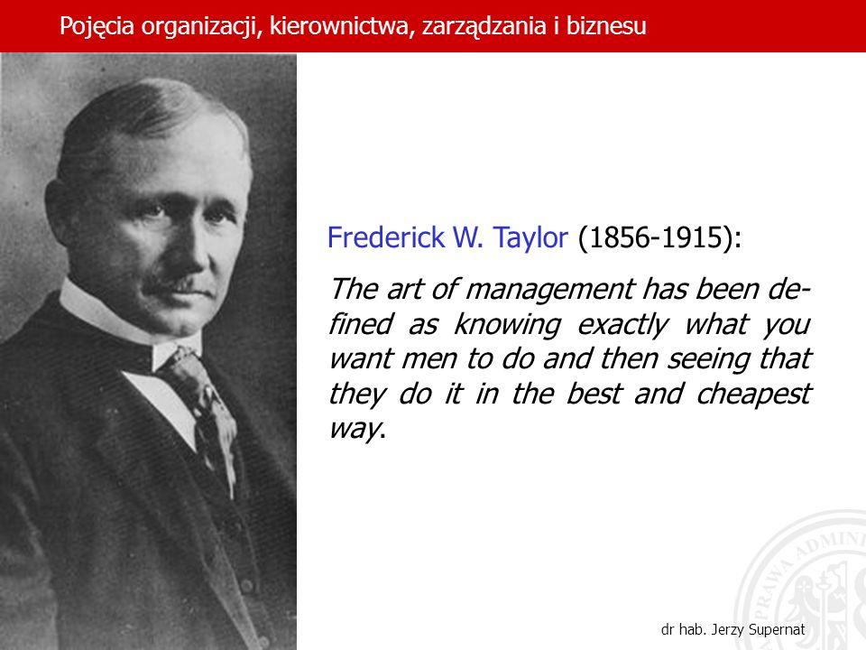 Frederick W. Taylor (1856-1915):