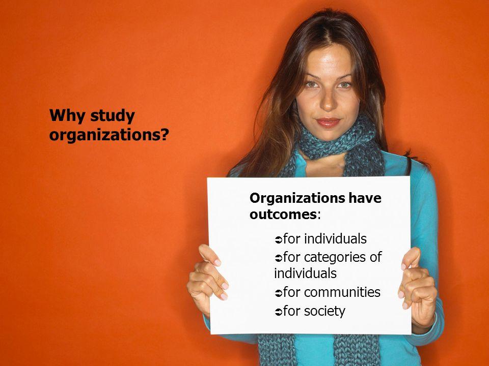 Why study organizations