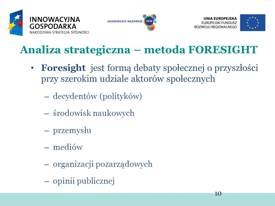 Analiza strategiczna – metoda FORESIGHT